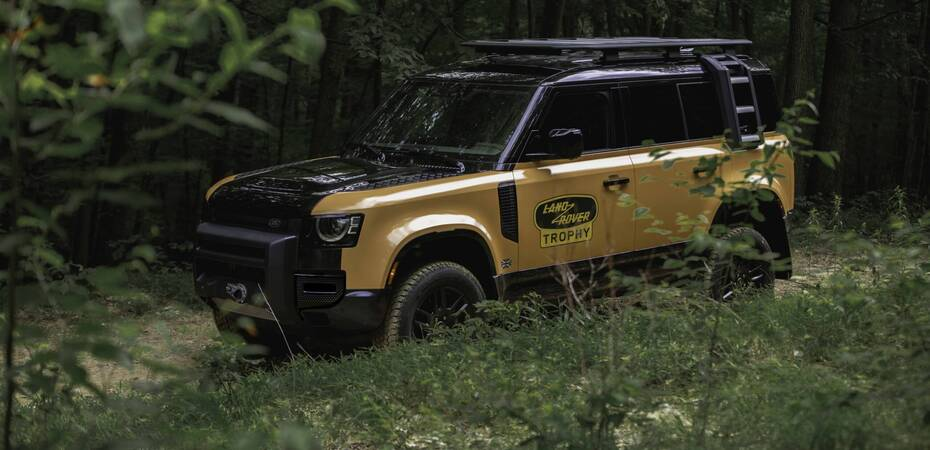 Defender Trophy10 with optional Winch installed – available as retailer installed accessory – supply limited